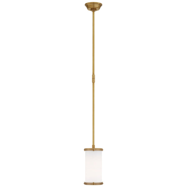 Visual Comfort TOB 5185HAB-WG Thomas O'Brien Calliope Mini Pendant in Hand-Rubbed Antique Brass