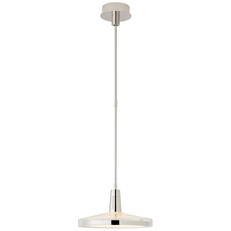 Visual Comfort TOB 5194PN-CG Thomas O'Brien Nikos Medium Pendant in Polished Nickel