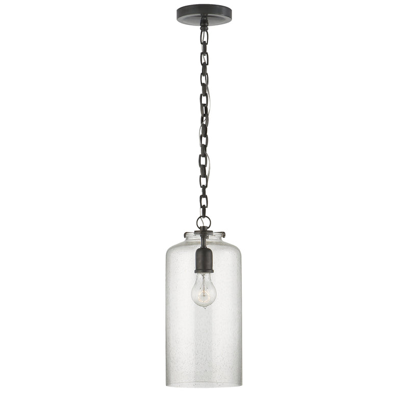 Visual Comfort TOB 5226BZ/G3-SG Thomas O'Brien Katie Cylinder Pendant in Bronze