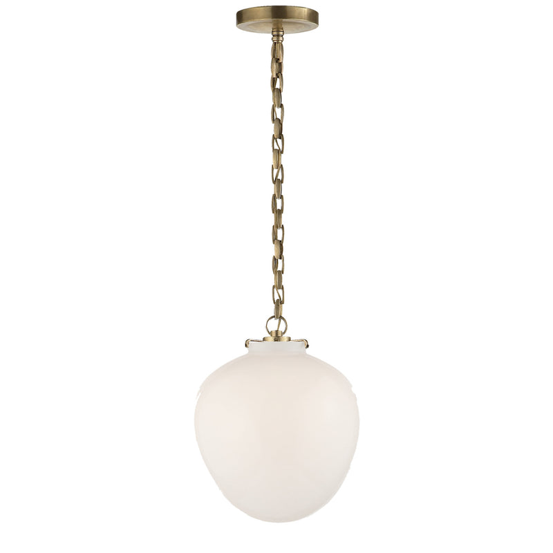 Visual Comfort TOB 5226HAB/G2-WG Thomas O'Brien Katie Acorn Pendant in Hand-Rubbed Antique Brass