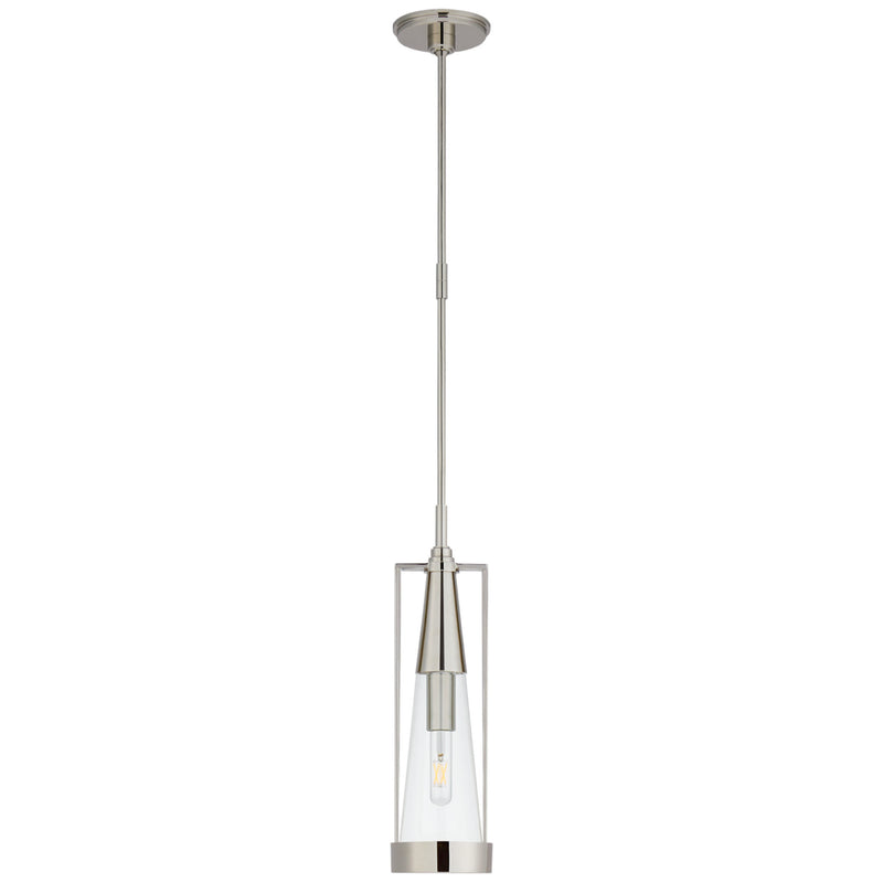 Visual Comfort TOB 5275PN-CG Thomas O'Brien Calix Small Pendant in Polished Nickel