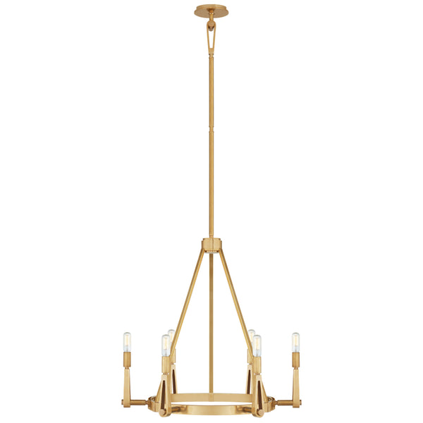 Visual Comfort TOB 5510HAB Thomas O'Brien Alpha Medium Chandelier in Hand-Rubbed Antique Brass