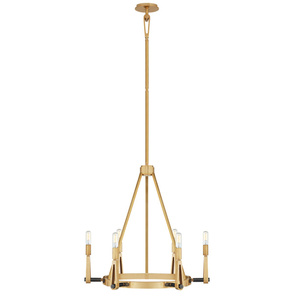 Visual Comfort TOB 5510HAB/BZ Thomas O'Brien Alpha Medium Chandelier in Hand-Rubbed Antique Brass and Bronze