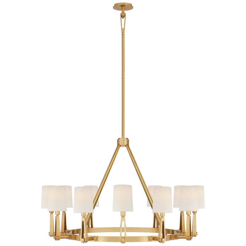 Visual Comfort TOB 5512HAB-L Thomas O'Brien Alpha Grande Chandelier in Hand-Rubbed Antique Brass