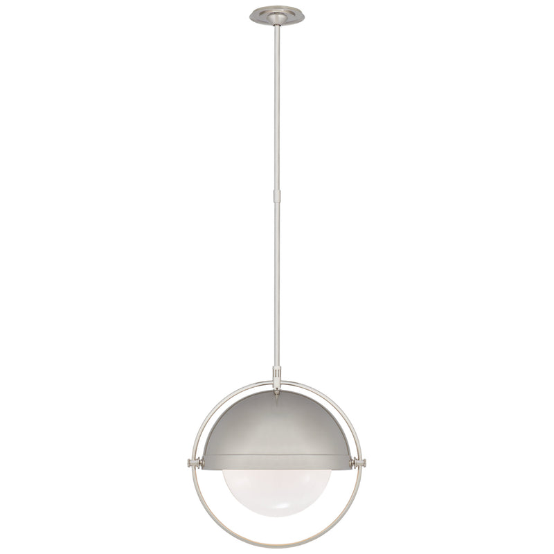Visual Comfort TOB 5747PN-WG Thomas O'Brien Decca Large Orbital Pendant in Polished Nickel