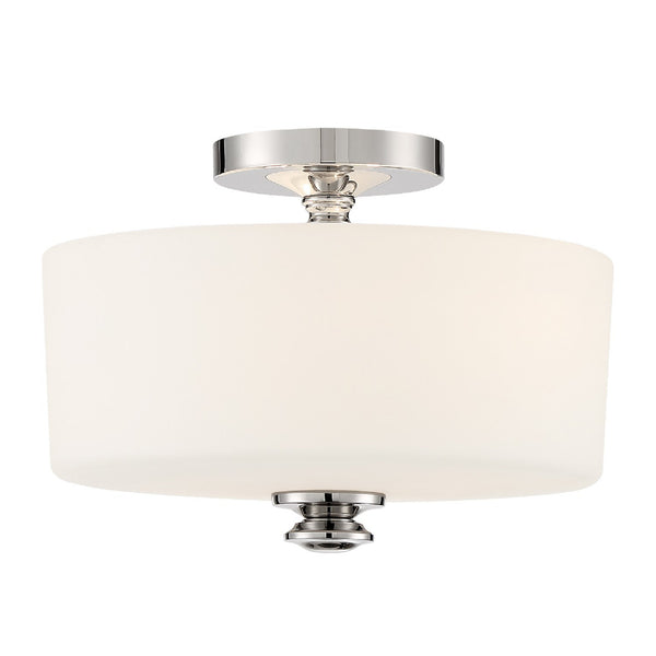 Crystorama TRA-A3302-PN Travis Ceiling Mount in Polished Nickel