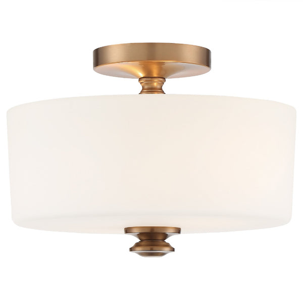 Crystorama TRA-A3302-VG Travis Ceiling Mount in Vibrant Gold