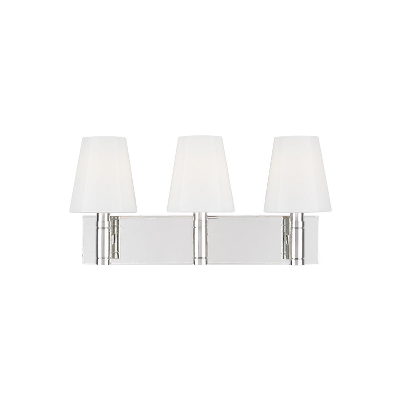 Generation Lighting TV1033PN Thomas O'Brien Beckham Classic 3 Light Wall / Bath Light in Polished Nickel