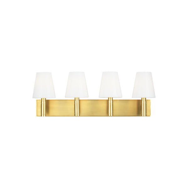 Generation Lighting TV1044BBS Thomas O'Brien Beckham Classic 4 Light Wall / Bath Light in Burnished Brass