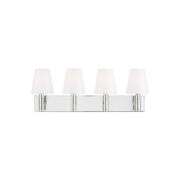 Generation Lighting TV1044PN Thomas O'Brien Beckham Classic 4 Light Wall / Bath Light in Polished Nickel