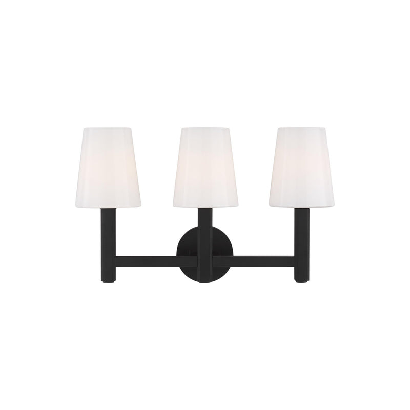 Generation Lighting TV1133AI Thomas O'Brien Logan 3 Light Wall / Bath Light in Aged Iron
