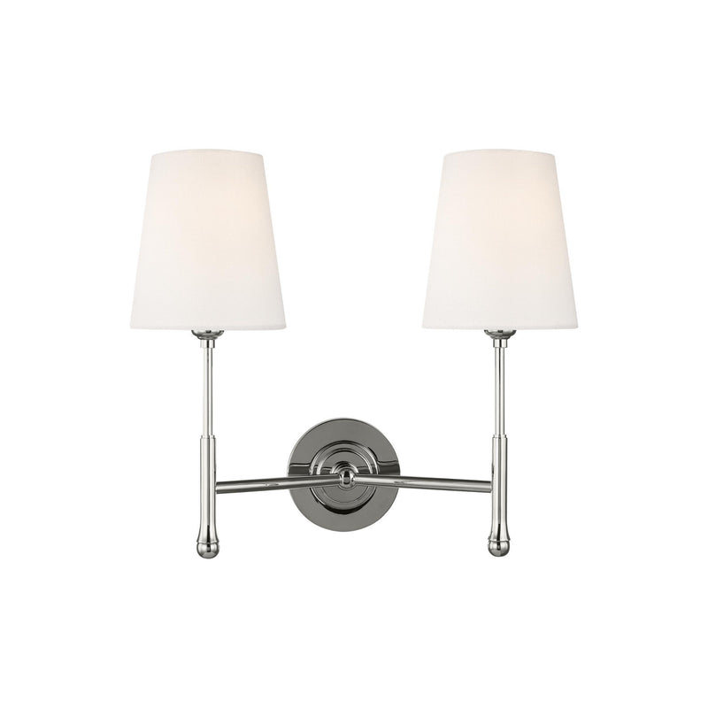 Generation Lighting TW1012PN Thomas O'Brien Capri 2 Light Wall / Bath Light in Polished Nickel