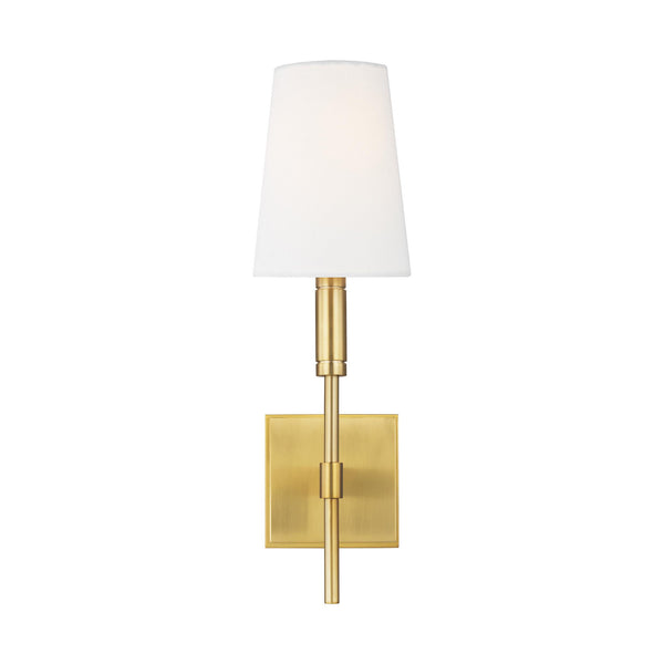 Generation Lighting TW1031BBS Thomas O'Brien Beckham Classic 1 Light Wall / Bath Light in Burnished Brass