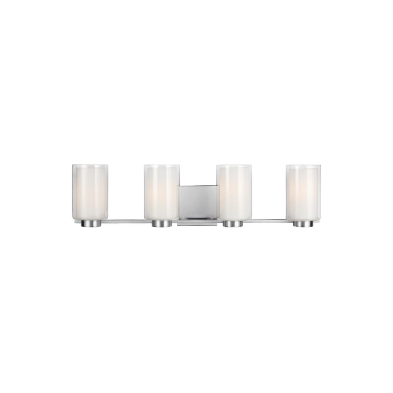 Generation Lighting VS22604SN Feiss Bergin 4 Light Wall / Bath Light in Satin Nickel