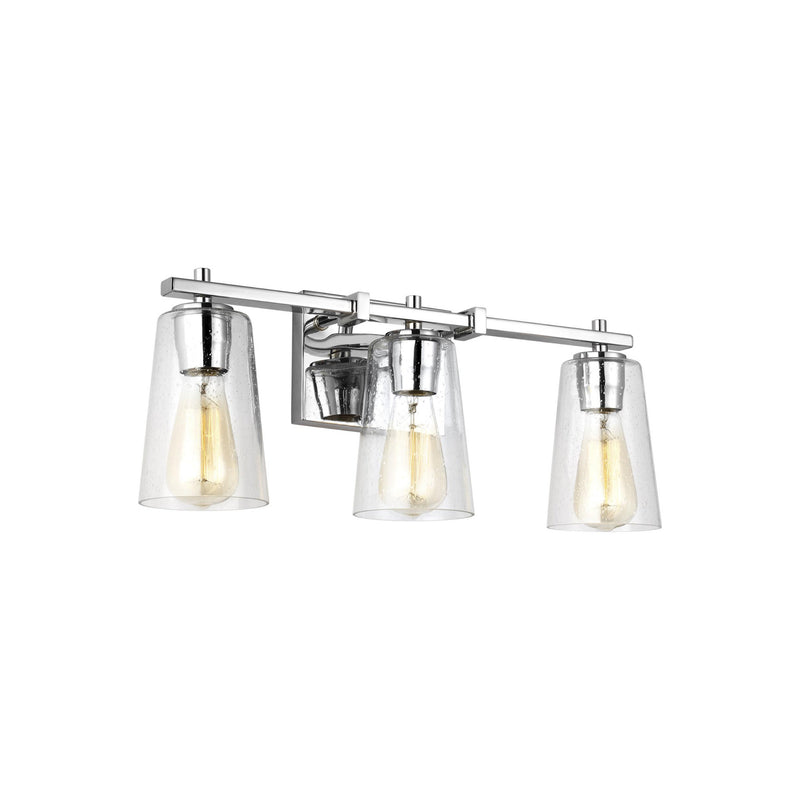 Generation Lighting VS24303CH Feiss Mercer 3 Light Wall / Bath Light in Chrome