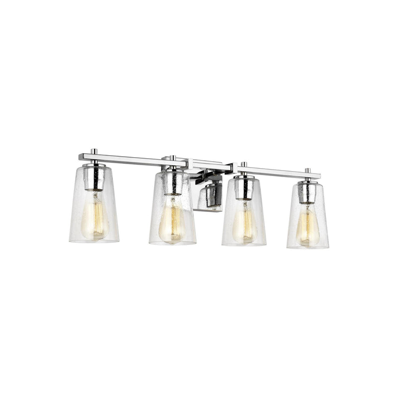 Generation Lighting VS24304CH Feiss Mercer 4 Light Wall / Bath Light in Chrome
