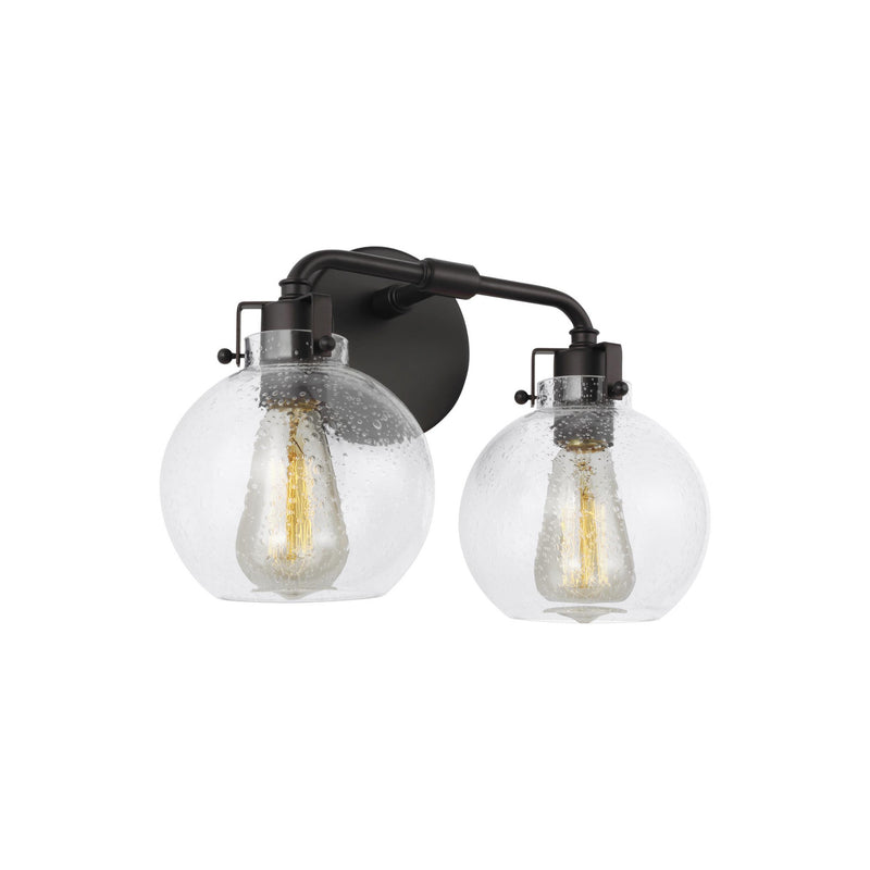 Generation Lighting VS24402ORB Feiss Clara 2 Light Wall / Bath Light in Oil Rubbed Bronze