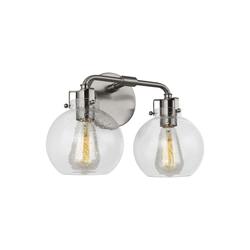 Generation Lighting VS24402SN Feiss Clara 2 Light Wall / Bath Light in Satin Nickel