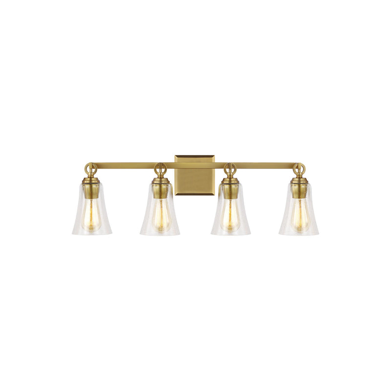 Generation Lighting VS24704BBS Feiss Monterro 4 Light Wall / Bath Light in Burnished Brass