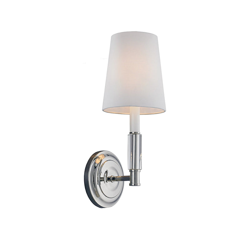 Generation Lighting WB1717PN Feiss Lismore 1 Light Wall / Bath Light in Polished Nickel
