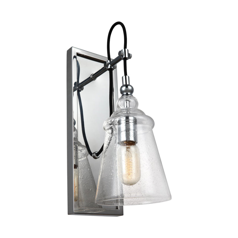 Generation Lighting WB1850CH Feiss Loras 1 Light Wall / Bath Light in Chrome