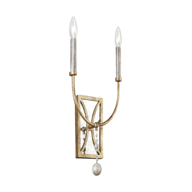 Generation Lighting WB1920ADB Feiss Marielle 2 Light Wall / Bath Light in Antique Gild