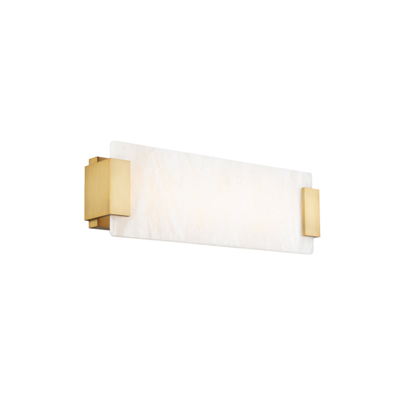 Modern Forms WS-60018-AB 3000K 22.395 Watt Quarry LED Bathroom Vanity & Wall Light in Aged Brass