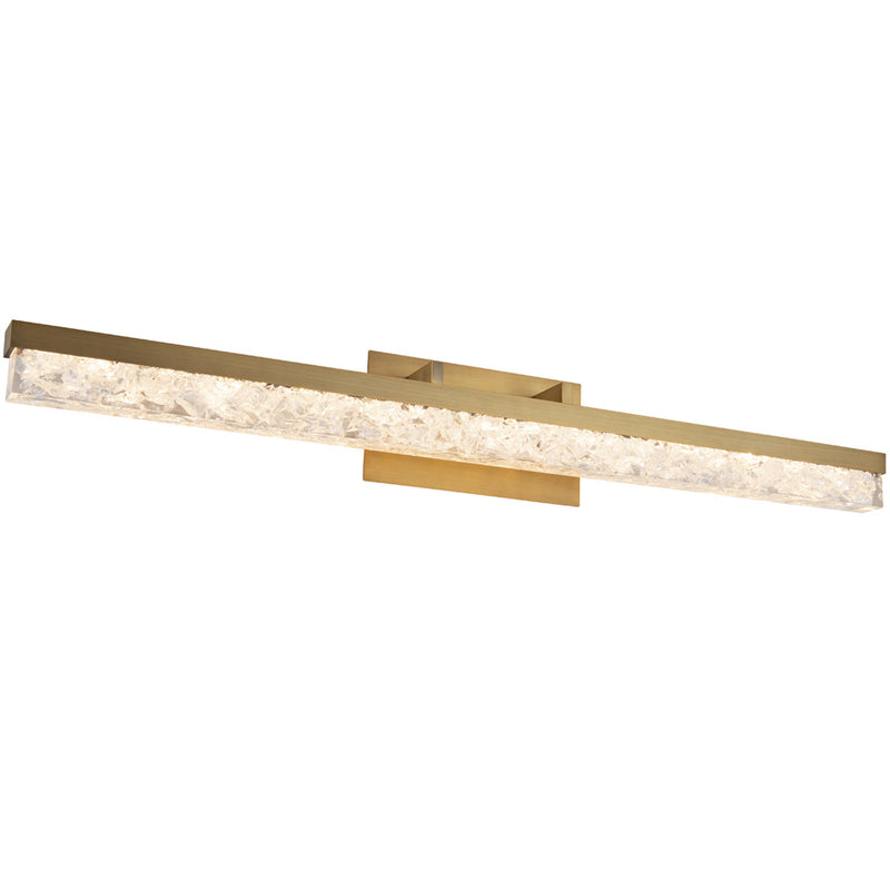 Modern Forms WS-62039-AB 3000K 31.42 Watt Minx LED Bathroom Vanity & Wall Light in Aged Brass