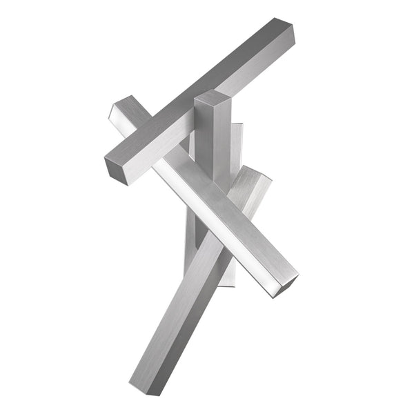 Modern Forms WS-64832-AL 3000K 28.55 Watt Chaos LED Wall Sconce in Brushed Aluminum