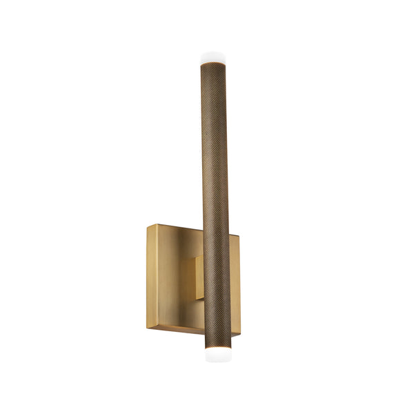 Modern Forms WS-67015-AB 3000K 8.5 Watt Burning Man LED Bath Vanity And Wall Light in Aged Brass