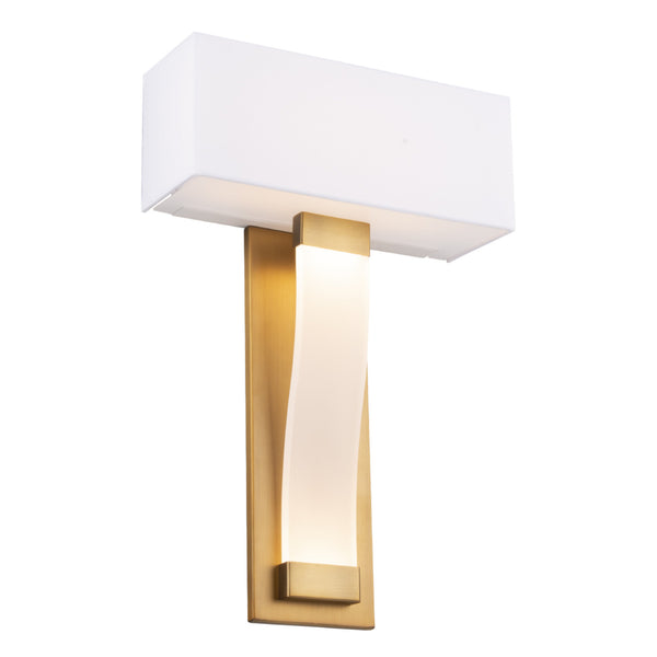 Modern Forms WS-70018-AB 3000K 19 Watt Diplomat LED Wall Sconce in Aged Brass