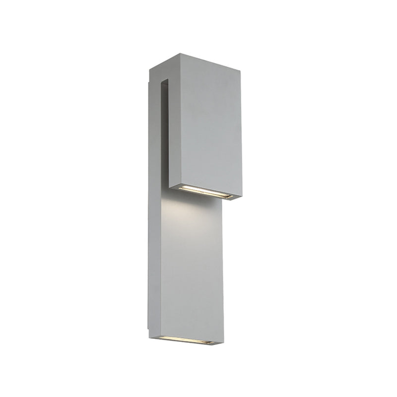 Modern Forms WS-W13718-GH 3000K 11 Watt Double Down LED Outdoor Wall Light in Graphite