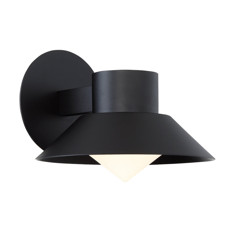 Modern Forms WS-W18710-BK 3000K 12 Watt Oslo LED Outdoor Wall Light in Black