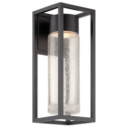 Modern Forms WS-W5416-BK 3000K 11 Watt Structure LED Wall Light in Black