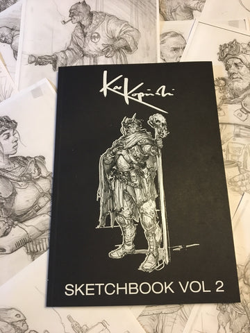 Sketchbook Volume 2 signed copy and includes full page original sketch.