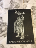 Sketchbook Volume 2 signed and includes small sketch.