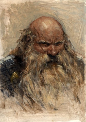 Dwarf - Oil on board