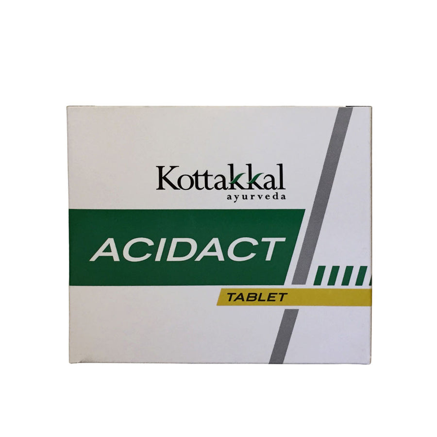 Acidact Tablet Box, Ayurvedic Product manufactured by Arya Vaidya Sala, Kottakkal Ayurveda for USA Distribution