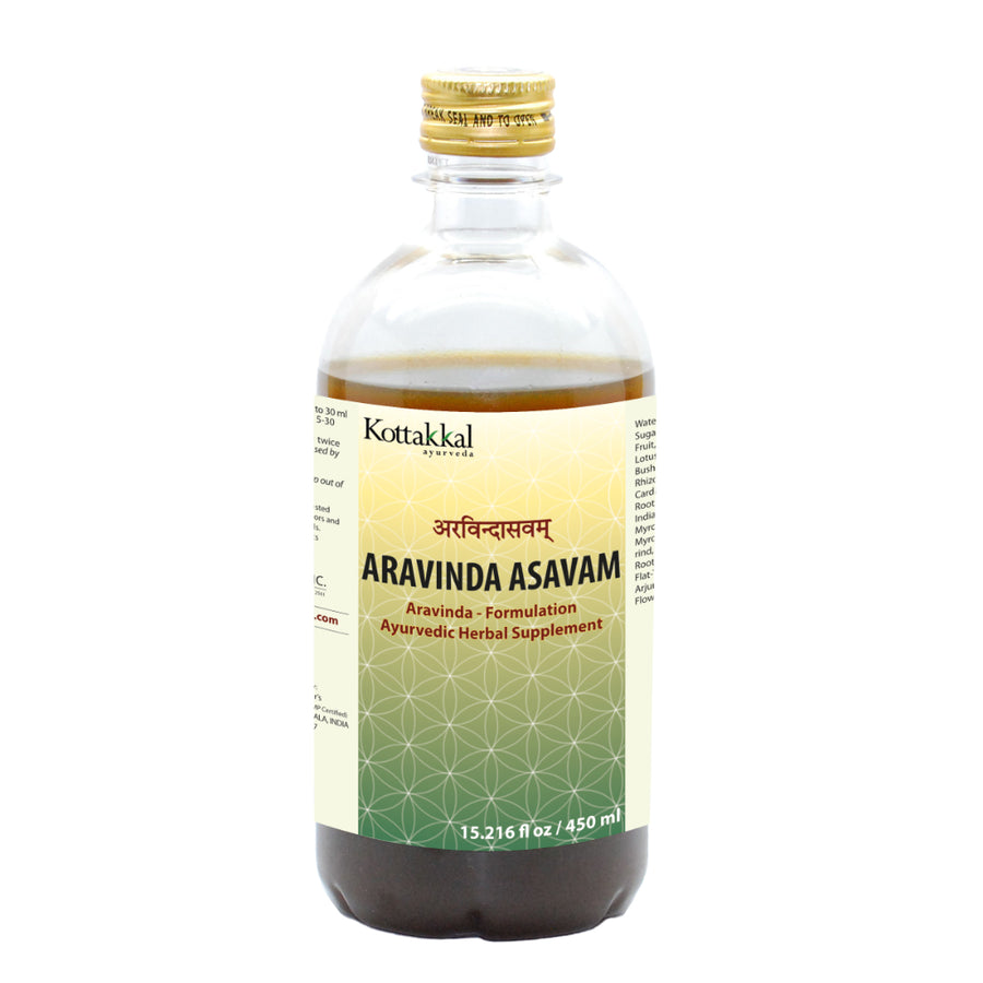 Aravinda Asavam Bottle, Ayurvedic Product manufactured by Arya Vaidya Sala, Kottakkal Ayurveda for USA Distribution