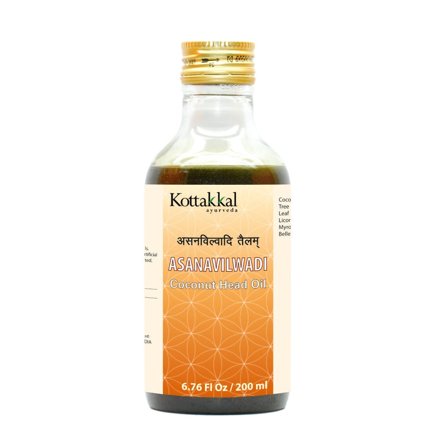 Asanavilwadi Oil Bottle, Ayurvedic Product manufactured by Arya Vaidya Sala, Kottakkal Ayurveda for USA Distribution