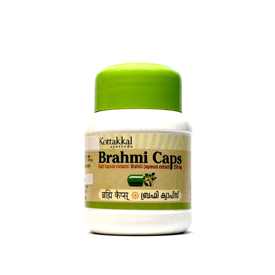 Brahmi Caps Bottle, Ayurvedic Product manufactured by Arya Vaidya Sala, Kottakkal Ayurveda for USA Distribution