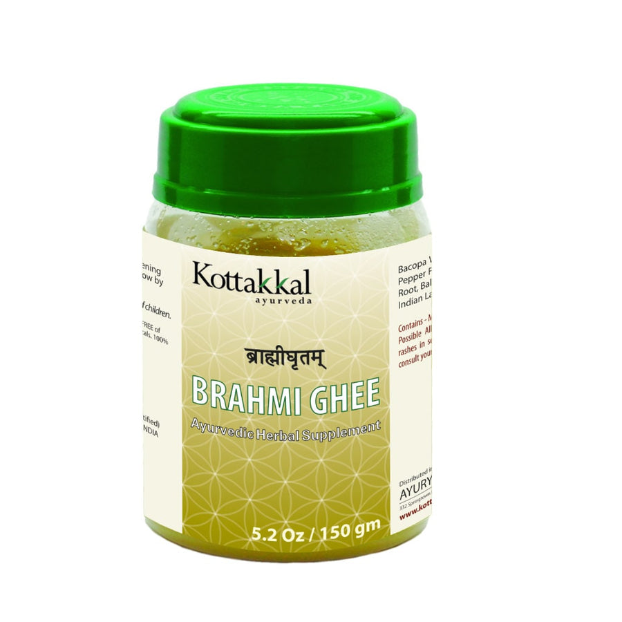 Brahmi Ghritam Bottle, Ayurvedic Product manufactured by Arya Vaidya Sala, Kottakkal Ayurveda for USA Distribution