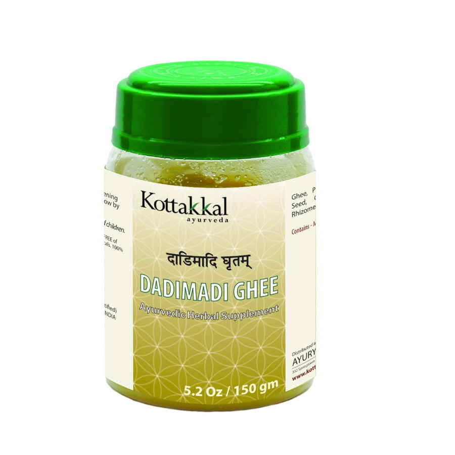 Dadimadi Ghritam Bottle, Ayurvedic Product manufactured by Arya Vaidya Sala, Kottakkal Ayurveda for USA Distribution