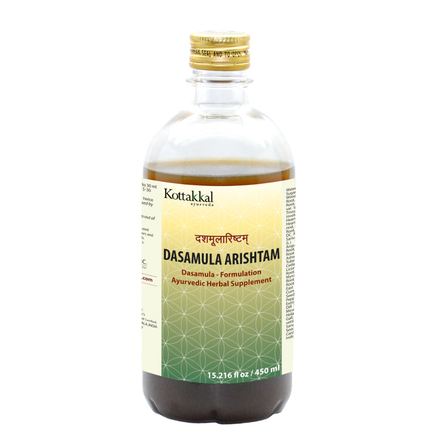 Dasamula Arishtam Bottle, Ayurvedic Product manufactured by Arya Vaidya Sala, Kottakkal Ayurveda for USA Distribution