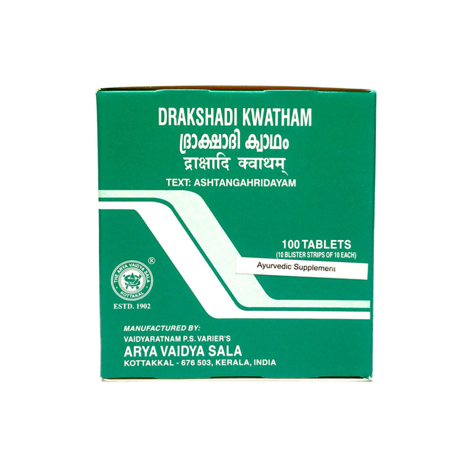 Drakshadi Kwatham Box, Ayurvedic Product manufactured by Arya Vaidya Sala, Kottakkal Ayurveda for USA Distribution