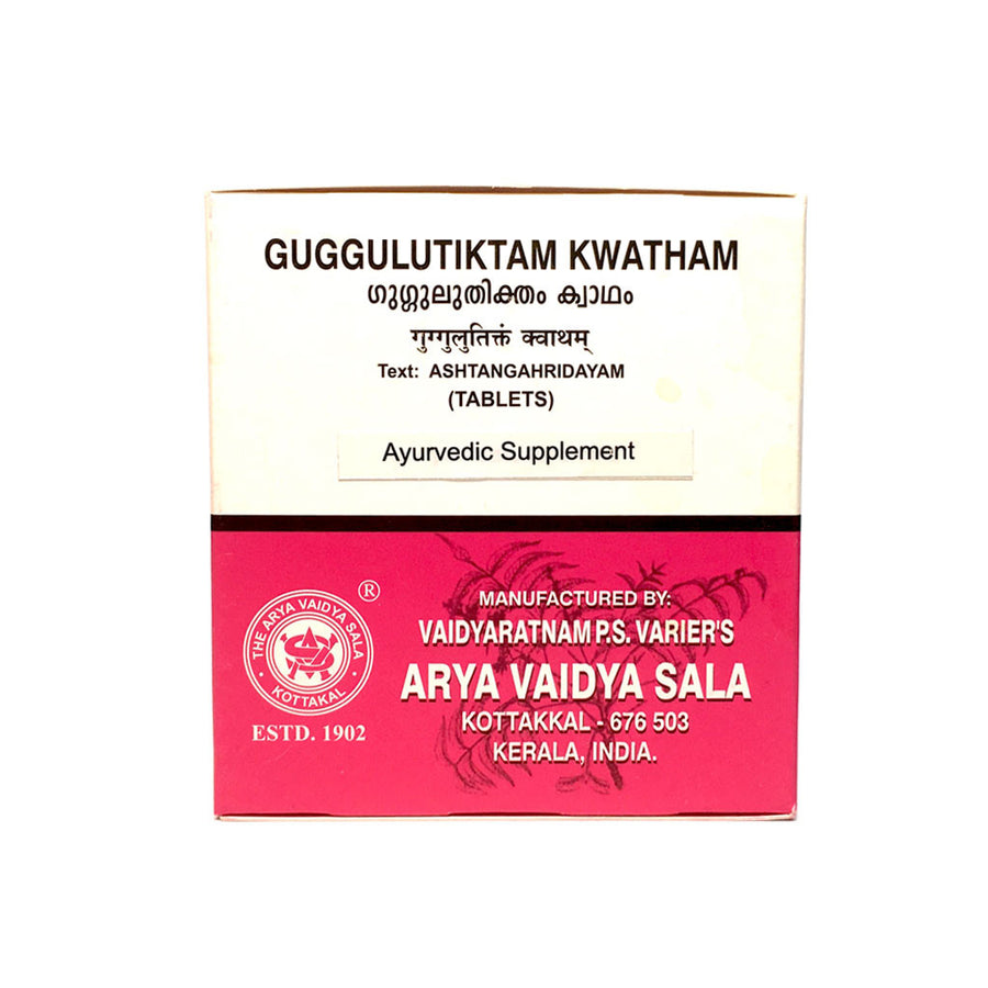 Guggulutiktam Kwatham Box, Ayurvedic Product manufactured by Arya Vaidya Sala, Kottakkal Ayurveda for USA Distribution