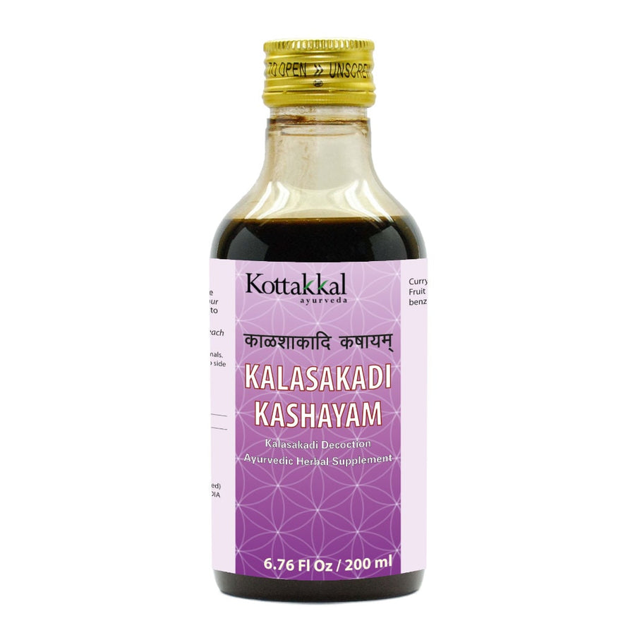 Kalasakadi Kashayam Bottle, Ayurvedic Product manufactured by Arya Vaidya Sala, Kottakkal Ayurveda for USA Distribution