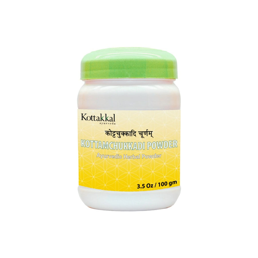 Kottamchukkadi Churnam Bottle, Ayurvedic Product manufactured by Arya Vaidya Sala, Kottakkal Ayurveda for USA Distribution