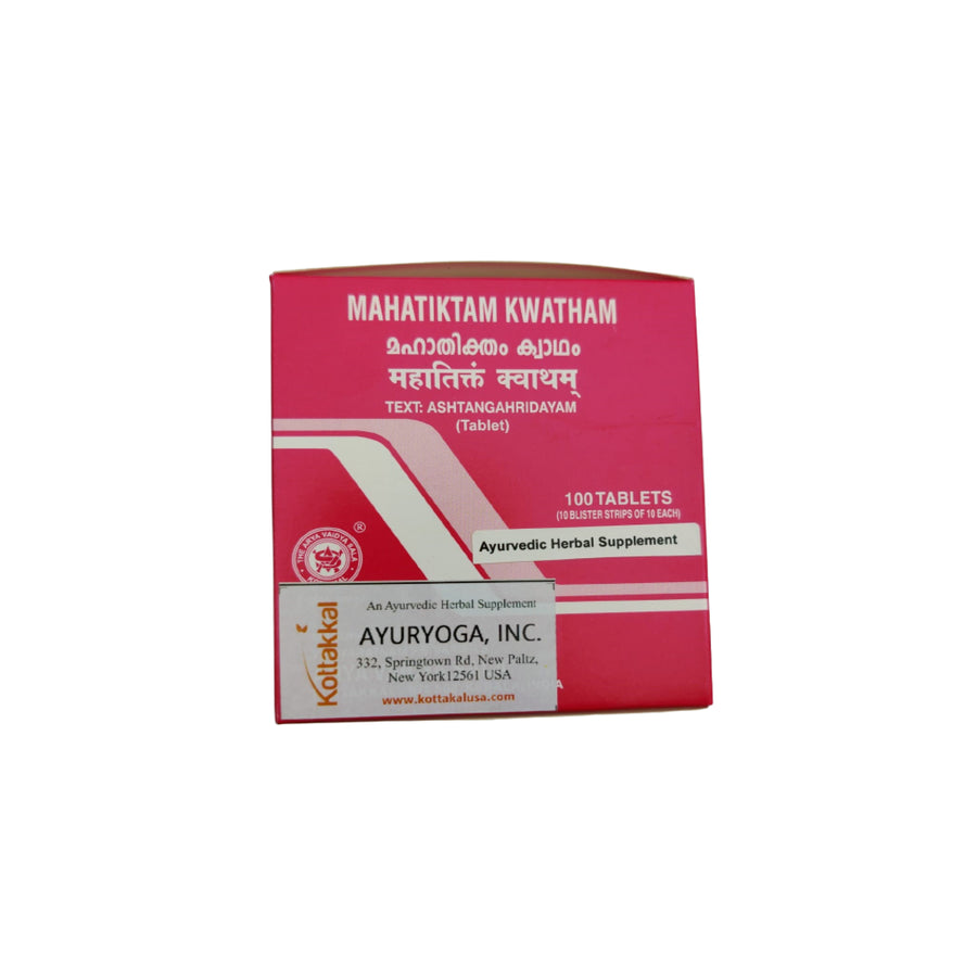 Mahatiktam Kwatham Box, Ayurvedic Product manufactured by Arya Vaidya Sala, Kottakkal Ayurveda for USA Distribution
