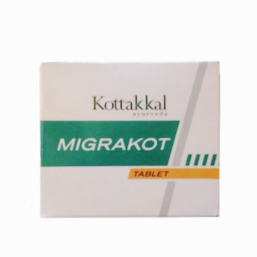 Migrakot Tablet Box, Ayurvedic Product manufactured by Arya Vaidya Sala, Kottakkal Ayurveda for USA Distribution